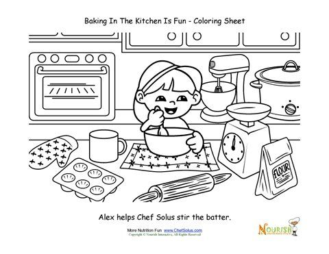 Kitchen Coloring Book Kitchen Safety Coloring Book Coloring Pages