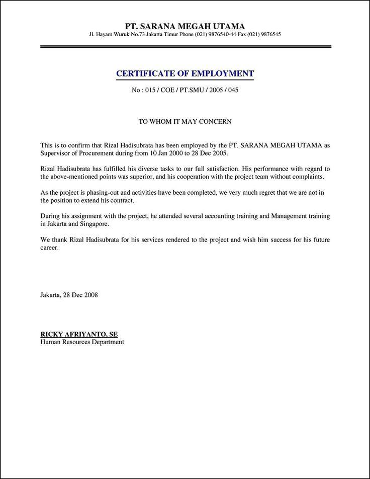 25+ unique Certificate format ideas on Pinterest Certificate - certification of employment sample