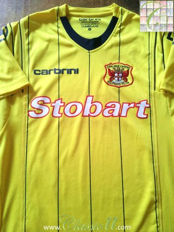 Relive Carlisle United's 2011/2012 season with this vintage Carbrini away football shirt.