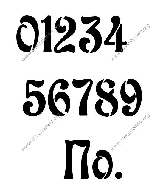 The  Best Number Stencils Ideas On   Number Template