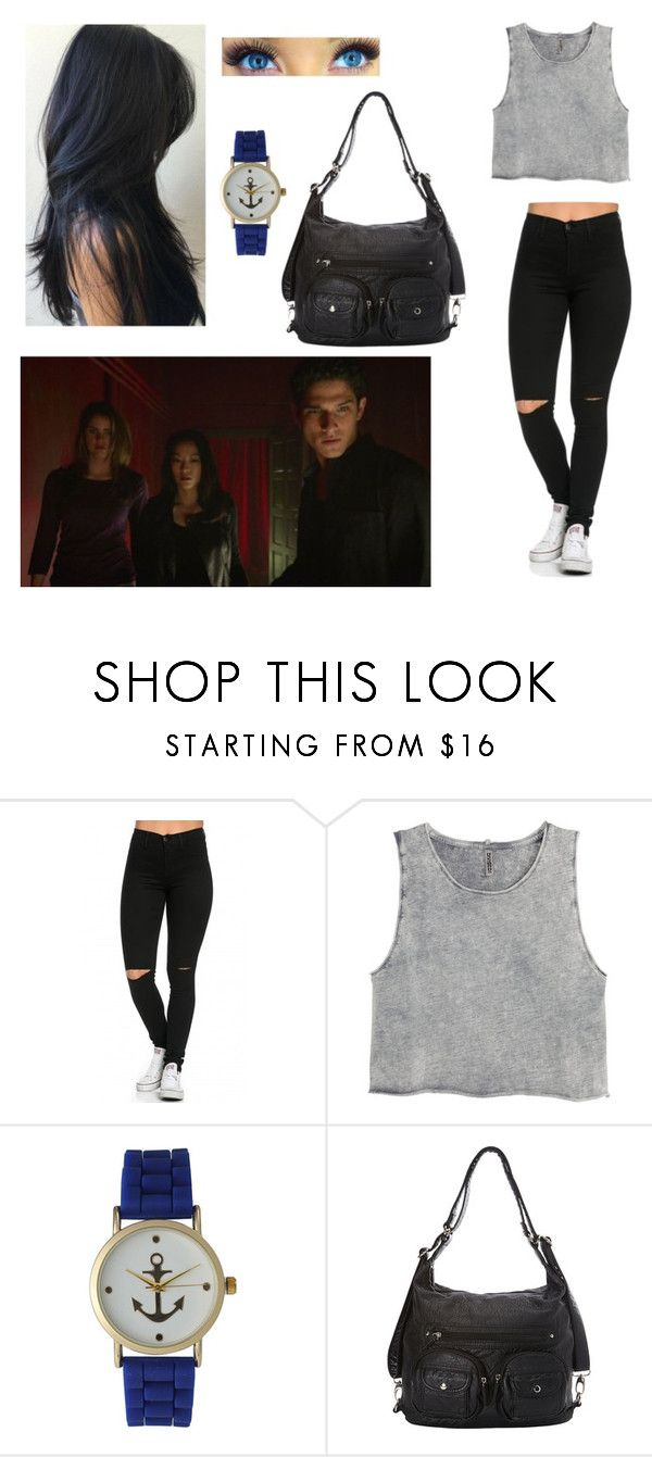 """""""scott's lil sister"""" by martinez-shell ❤ liked on Polyvore featuring beauty, Episode, GURU, H&M and Olivia Pratt"""
