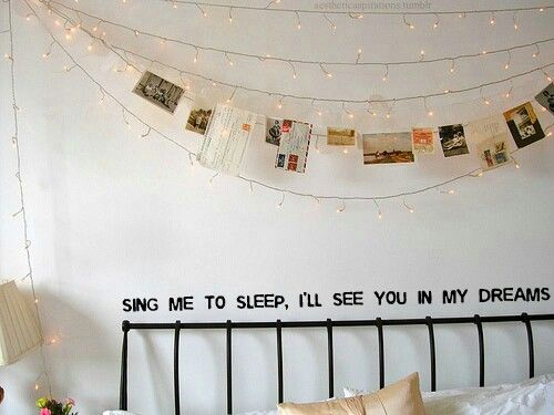 Cute teenage girl room ideas Wall decals, photo collage, photography, bedroom Rachel Thompson ...