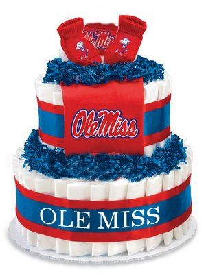 Ole Miss Diaper Cake Themed Baby Showers Babies And Ole