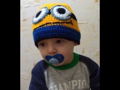 Diy - Touca (gorro) minions em Crochê Nº 3 - Enzo - 1 Ano - Graça Tristão - YouTube