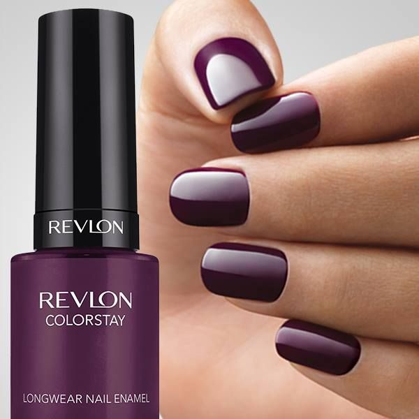 Ooh, loving this nail color! Revlon ColorStay Longwear Nail Enamel in Bold Sangria