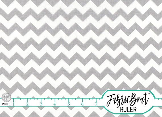 GRAY CHEVRON FABRIC by the YARD, FAT QUARTER, OR HALF YARD - You Choose - MEDIUM LIGHT GRAY CHEVRON Fabric - Premium Quilting Fabric and Apparel Fabric, 100% Cotton Fabric! Woven Cotton Print Fabric 44-45 inches wide.More yardage usually available by using the drop down quantity selector