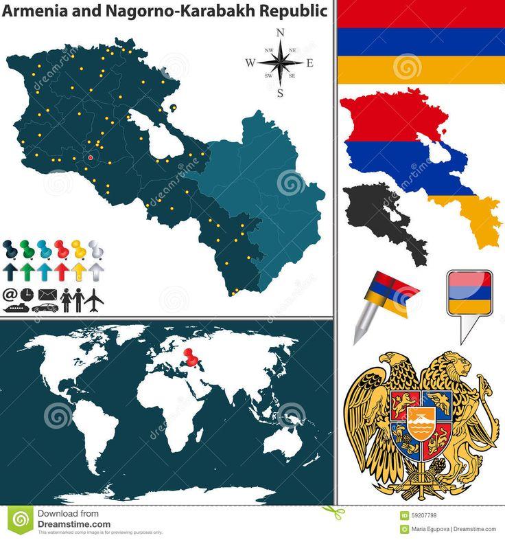 Infographic Map of Armenia & Nagorno-Karabagh