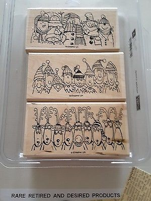 HOLIDAY-LINEUP-Stampin-039-Up-3-pc-Mounted-Rubber-Stamp-Set