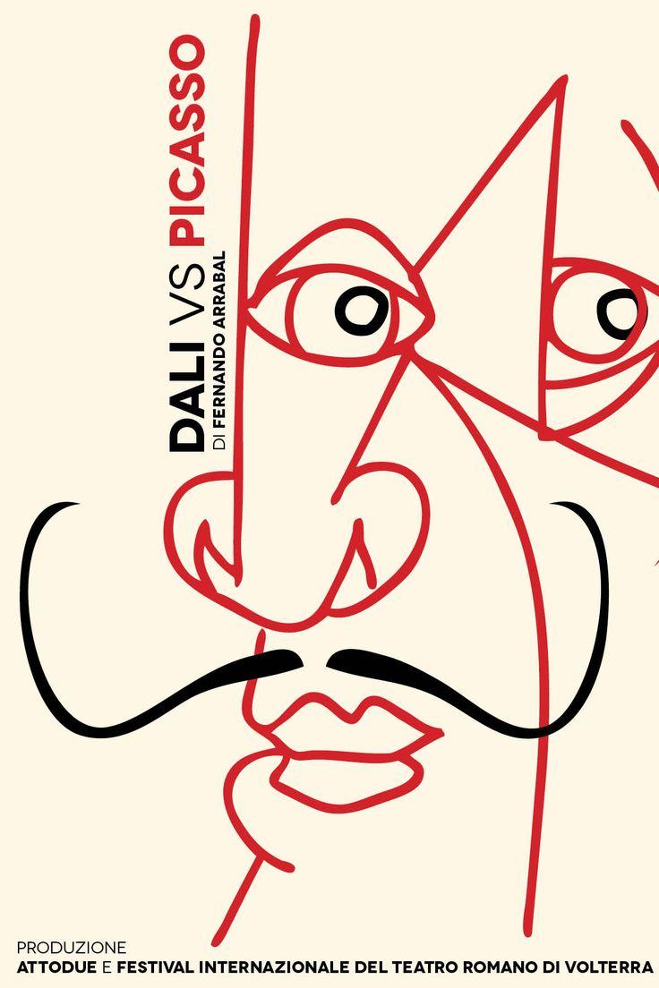 Da Picasso a Dalì Locandina spettacolo teatrale Sonia Squilloni Graphic Designer © 2017