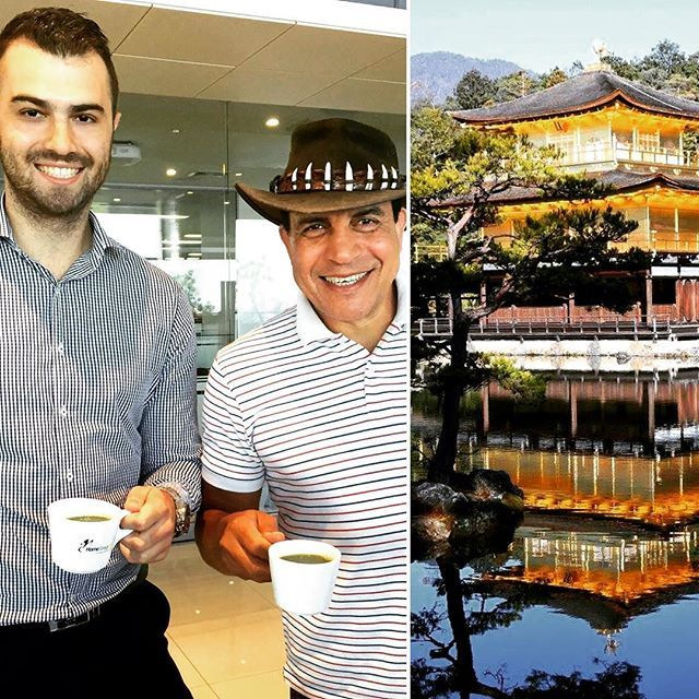 Gamal just brought us tea all the way from the Golden Temple in Japan! We love getting gifts from our happy clients - thanks so much Gamal  #HomeGroupWA