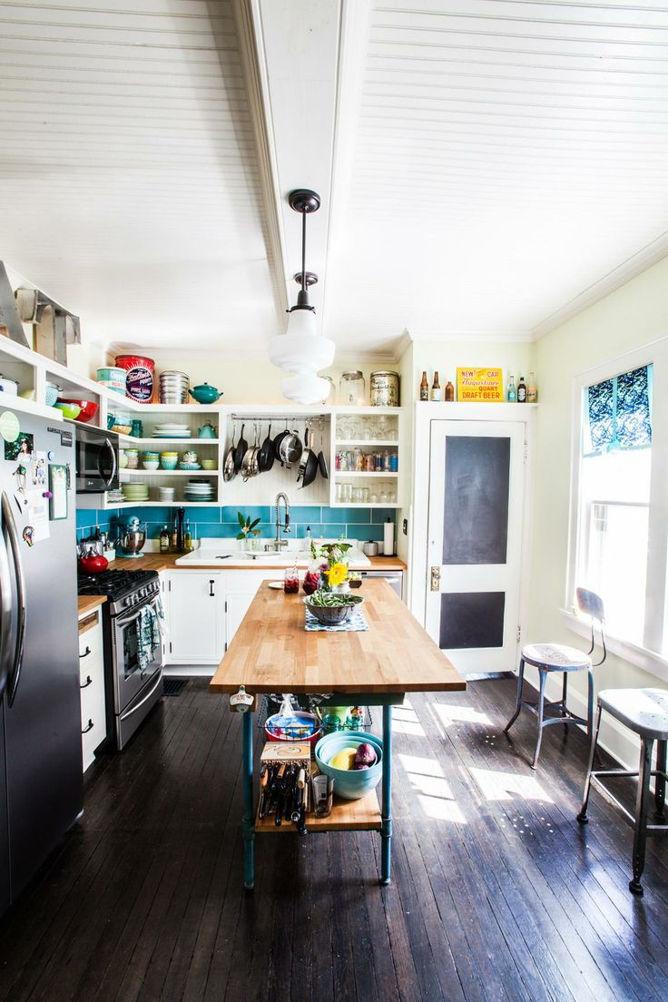 budget DIY eclectic farmhouse style kitchen