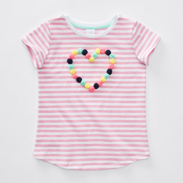 Short Sleeve Pom Pom T-Shirt Target Size 3
