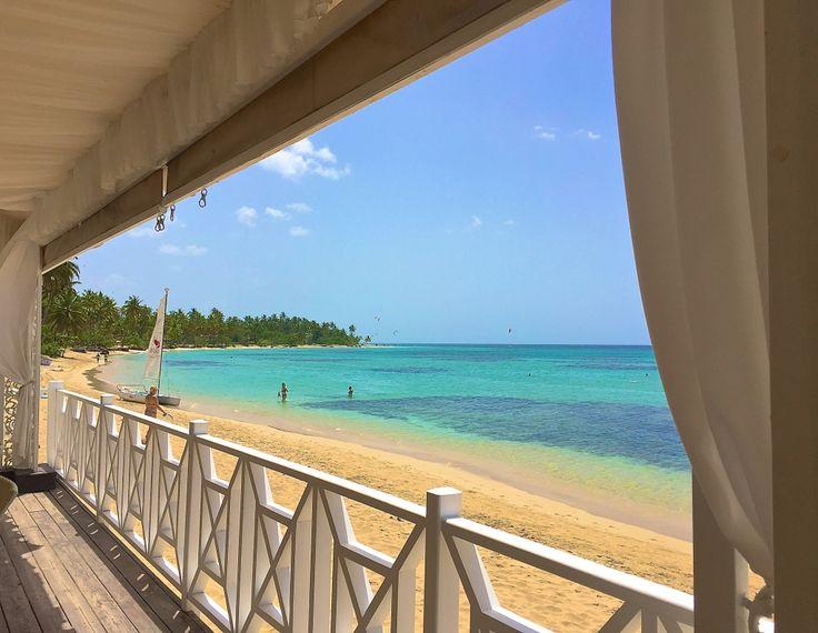 The beach at Grand Bahia El Portillo in Samana, Dominican Republic.