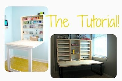 fold up craft desk | fold out table that folds up to look like a framed ... | Around the H ...