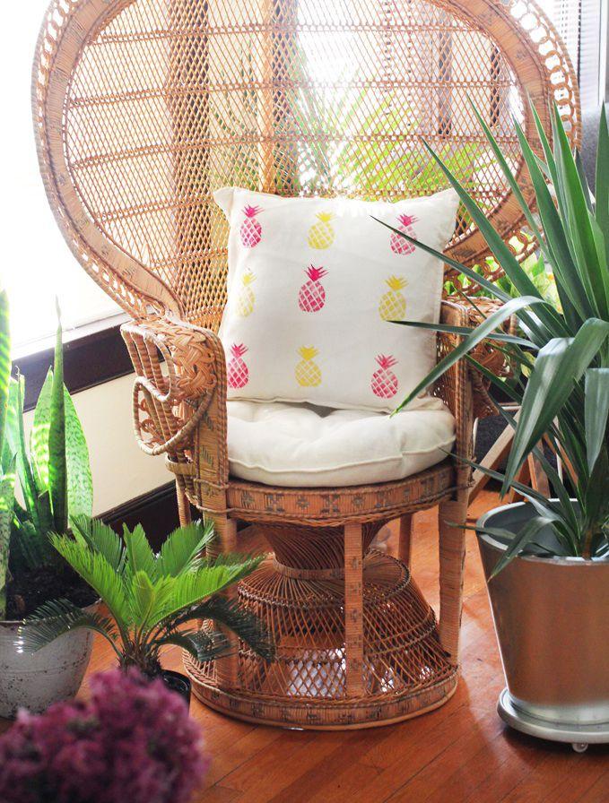 DIY Pineapple Print Pillow