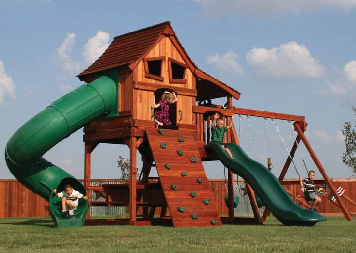 Outdoor Wooden Playsets | Wooden Swing Sets & Playsets - Backyard Dreams