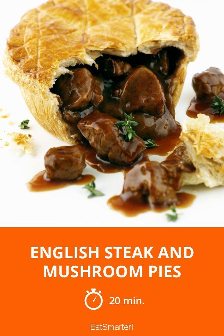 English Steak And Mushroom Pies Recipe In 2020 Steak And Mushroom Pie Steak And Mushrooms Mushroom Pie
