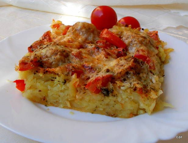 Krumpliba rejtett húsgolyó