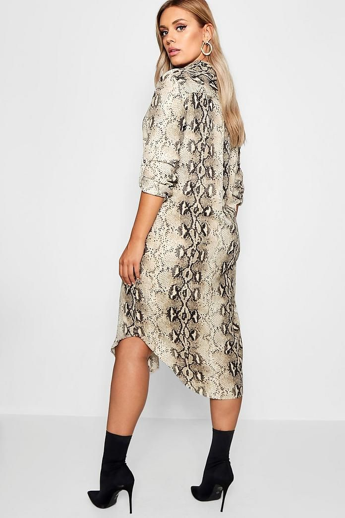 c0d540d0d Plus Snake Print Shirt Dress | Outfit ideas | Dresses, Snake print ...