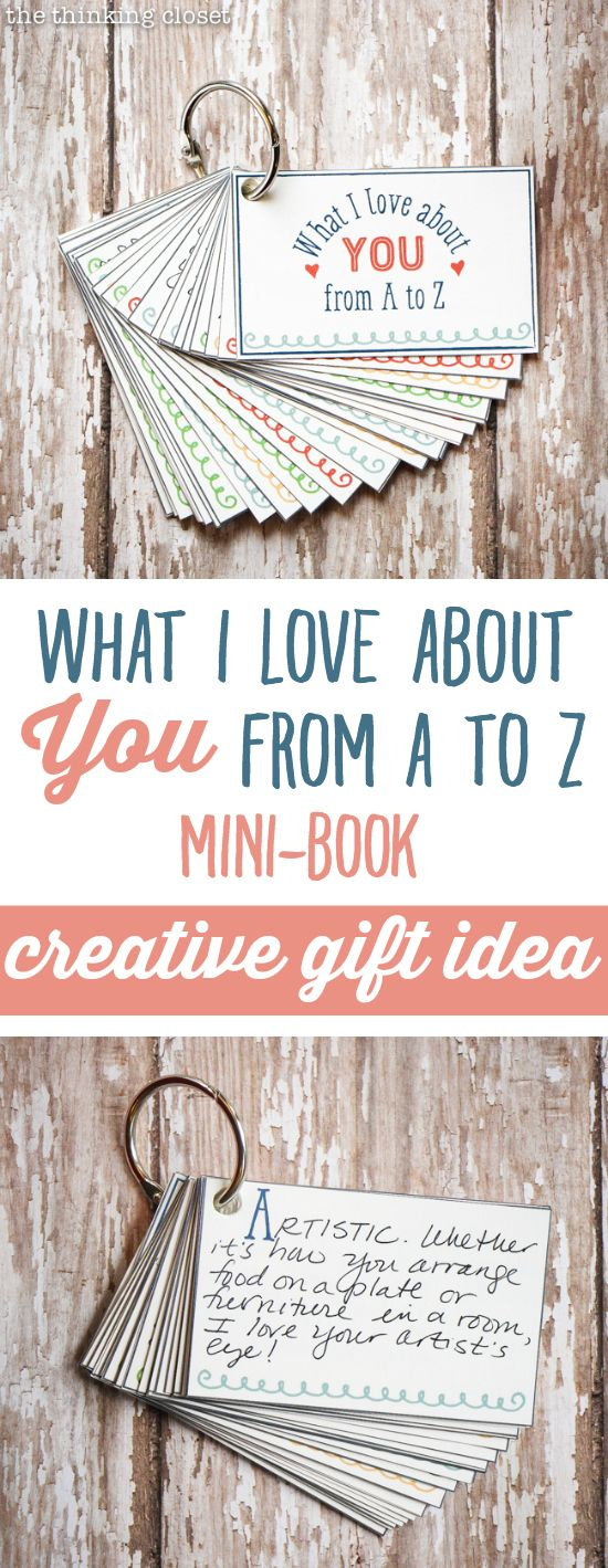 """What I Love About You from A to Z"" Mini-Book: Creative Gift Idea 