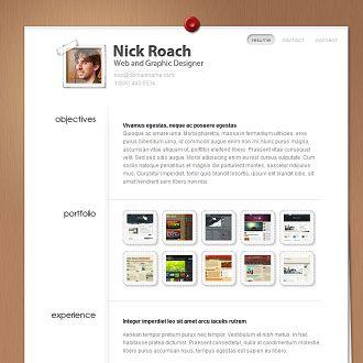 resume wordpress template designed for screen not print - Print Resume