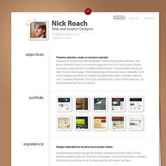 resume wordpress template designed for screen not print myresume