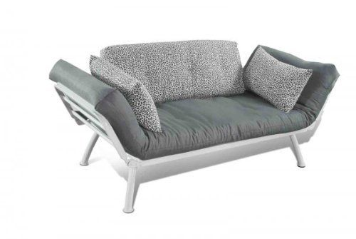 "Mali Flex Combo Futon Color: Snow Leopard by Elite Products. $385.00. Size: 29""H x 31""W x 61""D. Modern design.. Great for guests.. Use as a couch or a bed.. Color: Snow Leopard. 55-6119-6057 Color: Snow Leopard Features: -Futon.-Durable silver metal frame.-Custom cushions and pillows decorate the Mali while offering superior comfort.-The Mali frame paired with stylish cushions is the perfect furniture addition to any home, office, dorm and apartment.-Contemporary fur..."