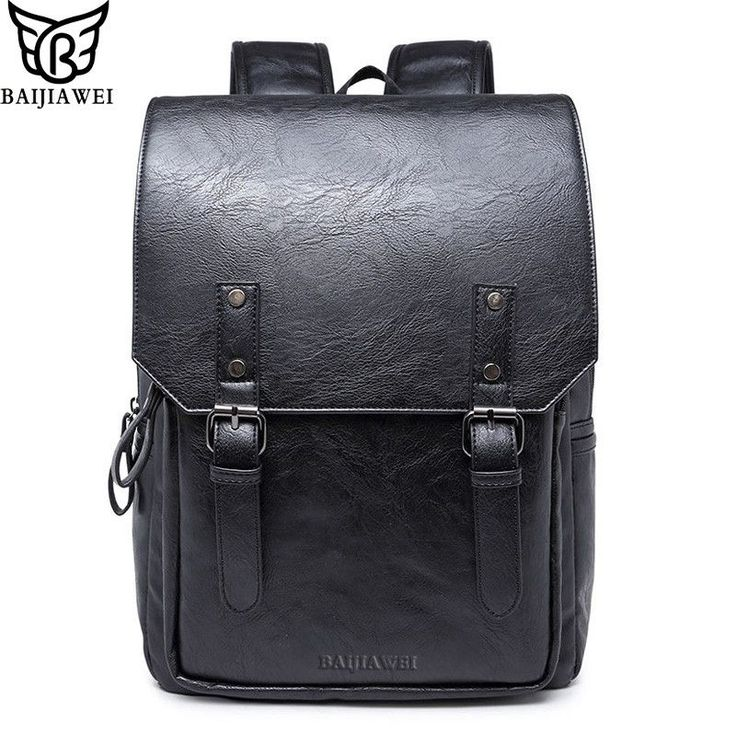 BAIJIAWEI  High Quality Oil Wax Leather Backpacks College Style Fashion Bag For Men. Item Type: BackpacksInterior: Interior Compartment,Cell Phone Pocket,Interior Zipper Pocket,Interior Slot PocketStyle: European and American StyleMain Material: Patent LeatherLining Material: PolyesterExterior: Silt PocketClosure Type: ZipperGender: MenRain Cover: NoPattern Type: SolidModel Number: BP631Backpacks Type: SoftbackCarrying System: Resin MeshBrand Name: BAIJIAWEIHandle/Strap Type: Soft…