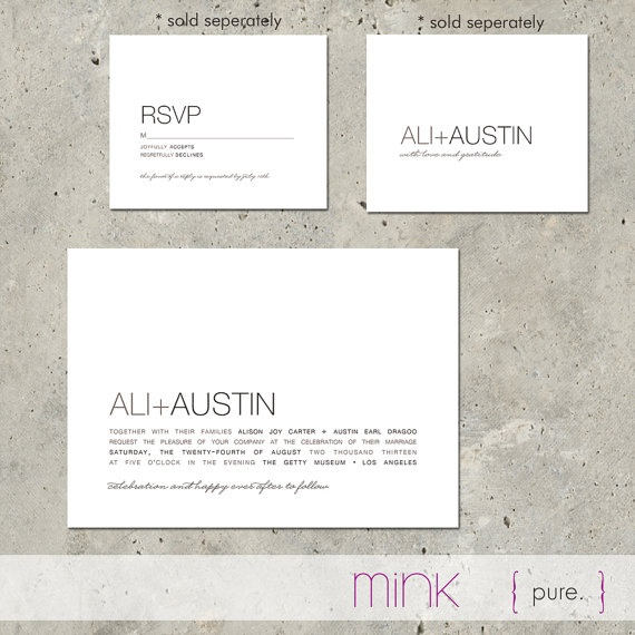 modern + invite (You didn't think I had Pinterest game, did you?)