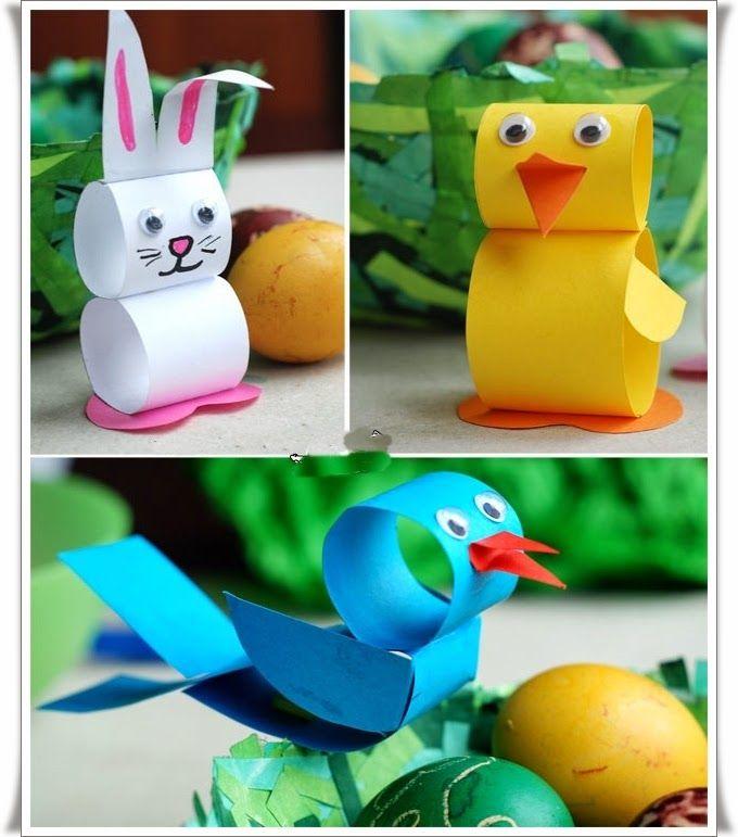 Kağıttan Kolay Oyuncak Hayvan Yapımı Kaynak : http://www.elisicalismalari.com/2014/03/kagittan-kolay-oyuncak-hayvan-yapimi.html