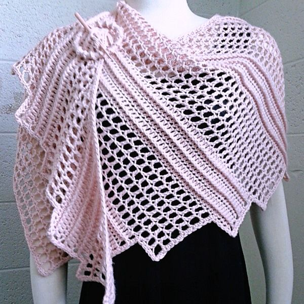 Crochet Patterns For Shawls With Sleeves : Crochet Pattern for poncho wrap shawl wrap CrochetSquare ...