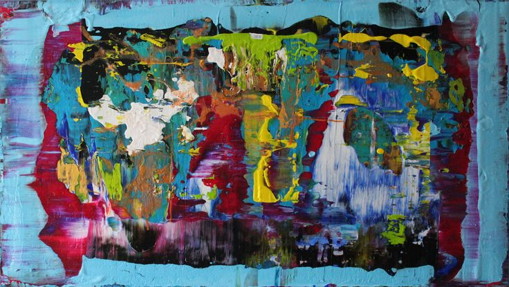 New vision Acrylic painting on canvas 100 cm x 70 cm NO.309