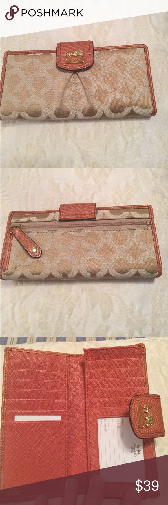 Coach Madison Op Art Sateen Skinny Wallet Preloved Coach Wallet in good condition. Coach Bags Wallets