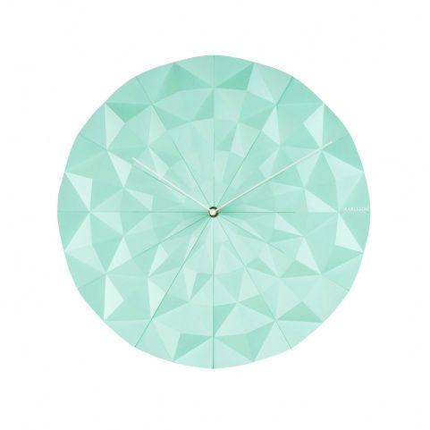 Настенные часы мятные Karlsson Facet Mint | The Fields