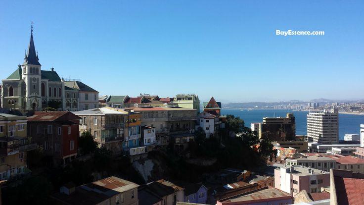 Vista del Cerro Alegre a la bahía: Quinta Región de Valparaíso #AtoZChallenge