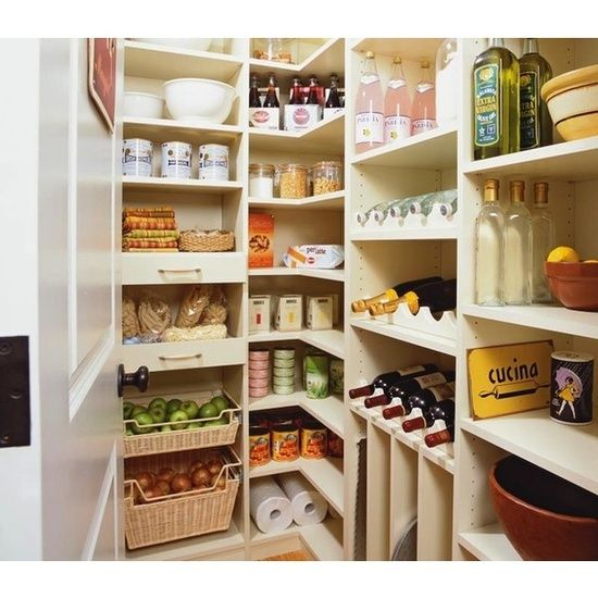 Vintage walk in pantry country kitchen transform for Country kitchen pantry ideas