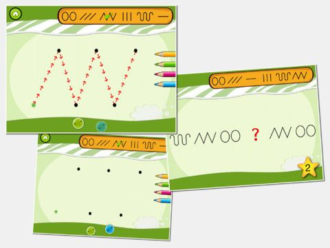 okstavsskolan ger möjlighet för: ----------------------------- • att träna skrivvägarna  • att skriva självständigt efter skrivprickar • att skriva fritt  • att lära bokstävernas placering i bokstavshuset  • att träna äga/hand koordination  • att träna fin motorik