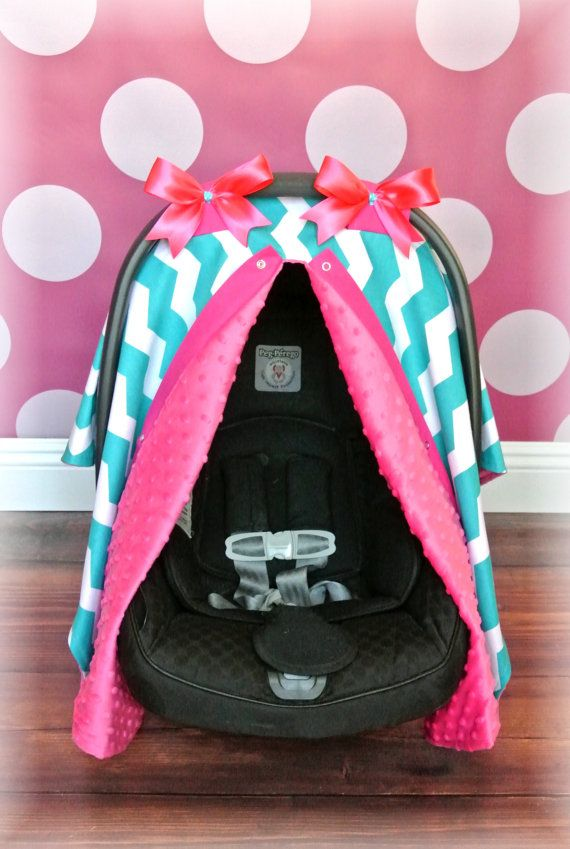 Flannel Mermaids Carseat Canopy Car Seat Cover Teal