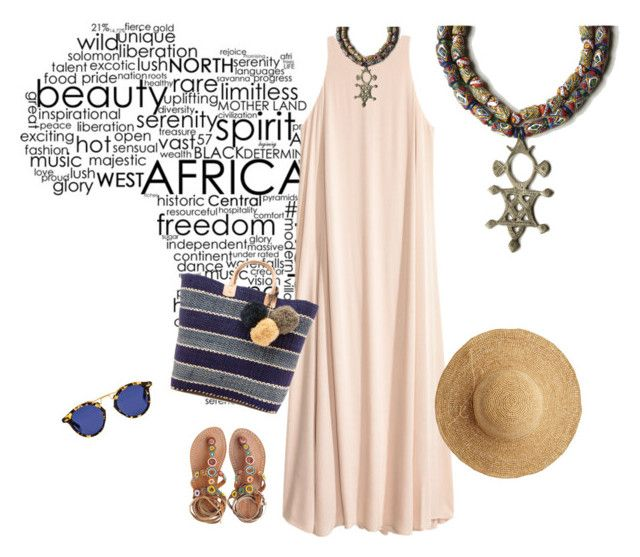"""Africa"" by catalina86 ❤ liked on Polyvore featuring Mar y Sol, Laidback London, Krewe, Flora Bella, jewels, necklace, africa and sibaru"