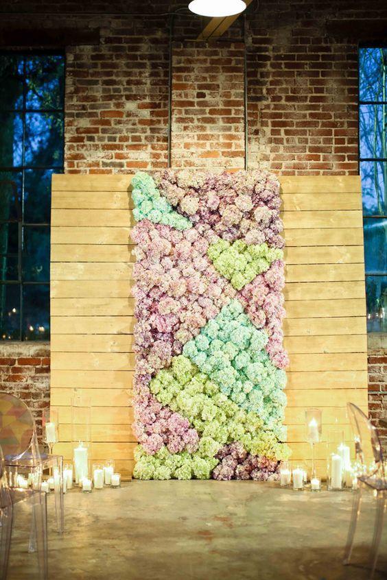 floral ceremony wedding backdrop