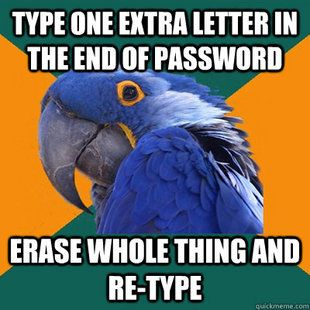 Paranoid Parrot #firstworldproblems