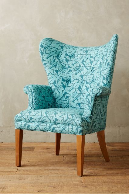 Cartesian Print Wingback Chair #anthroregistry