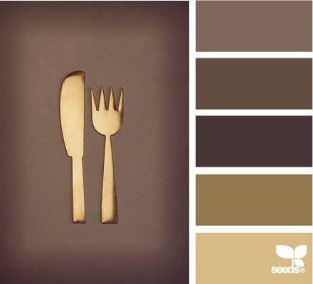 Color Utensil: Mocha, Chocolate Brown, Dark Brown, Bronze and Gold