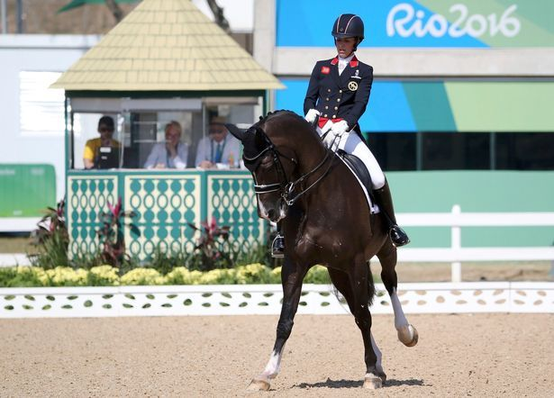 Team GB's Charlotte Dujardin wins third Olympic gold medal in individual dressage at Rio 2016.Charlotte Dujardin added a gold medal in the individual dressage grand prix freestyle final to her silver in the team dressage at Rio 2016 .  Dujardin posted an amazing 93.928% aboard her trusted Valegro to secure golds in successive Olympic games.  Germany's Isabell Werth, who has won six Olympic gold medals in her career, had to settle for silver after going out last to post 89.071%