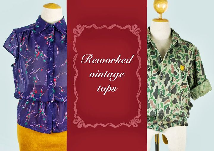 revamped vintage fabric & fatigues!