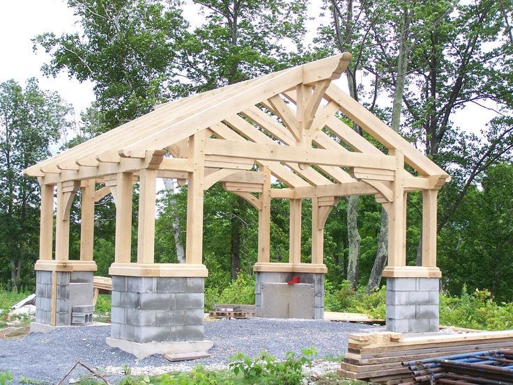 17 best images about outdoor patio shelter large beam on for Japanese style gazebo plans