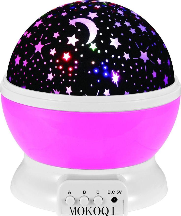 Sky Star Light Notte, MKQPOWER® stella della nuova generazione di illuminazione della lampada 360 gradi Camera Romantica Rotazione del proiettore di notte della lampada bambini Bedroom Letto regalo di Natale (rosa): Amazon.it: Elettronica