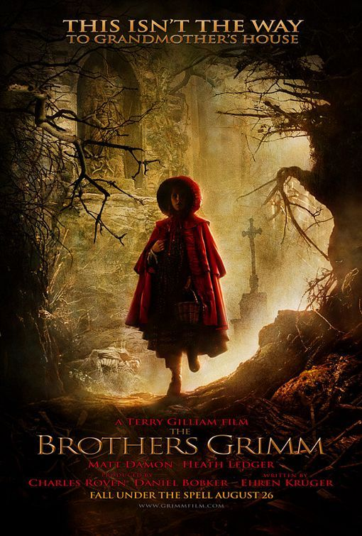 I love this image: movie poster for The Brothers Grimm, one of the inspirations for my story