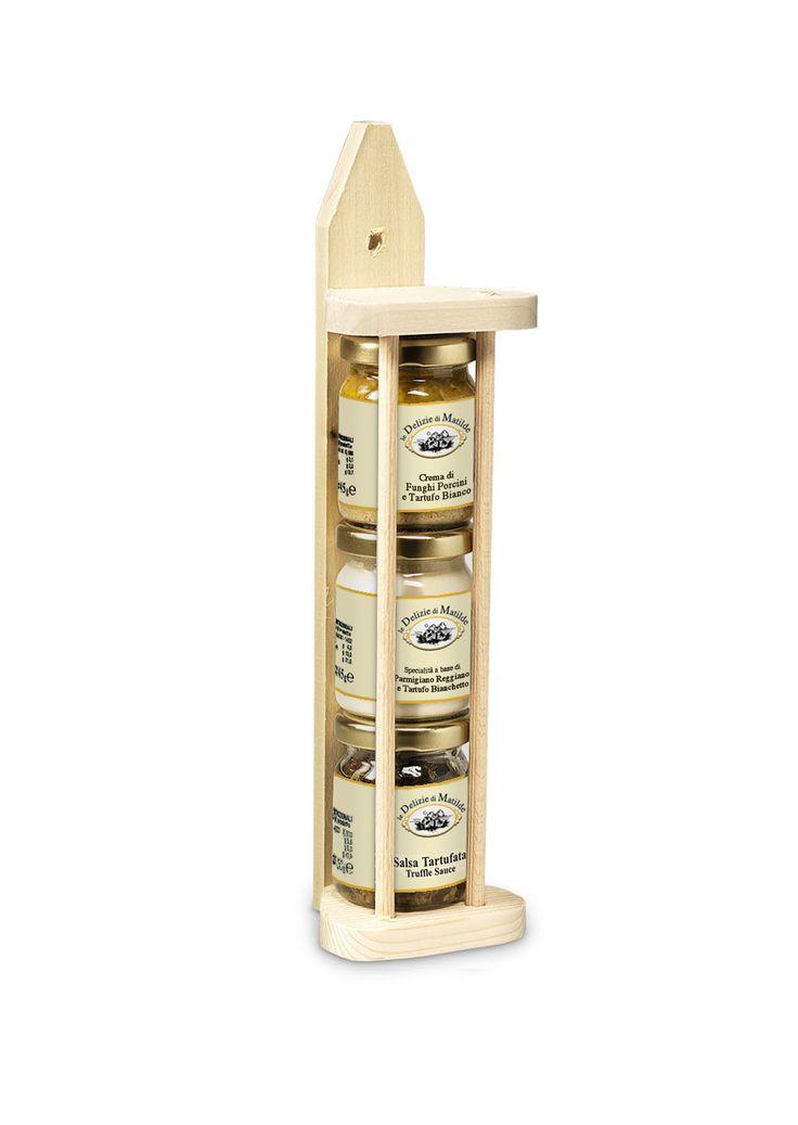 Sos de trufe 50g • Crema de parmezan Reggiano si trufa alba de primavara 45g • Crema de hribi si trufe albe 45g