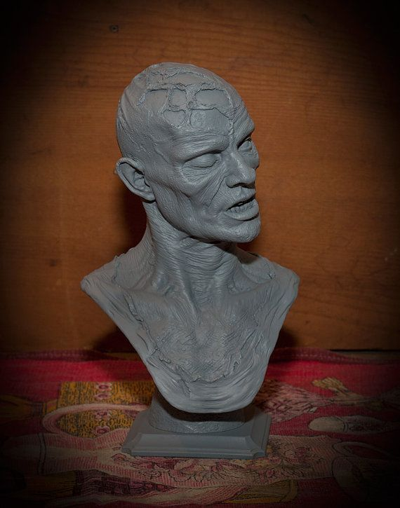 PROMOTIONAL PRICE Zombie bust inspired the by ForbiddenScrolls